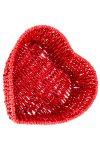 Herzschale rot, 22 x 7,5 cm