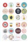 Rund-Sticker Tea Time Ø 4 cm, 24 Stück