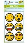 Rund-Sticker Emojis Ø 4 cm, 24 Stück