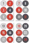 Rund-Sticker-Set Adventskalenderzahlen
