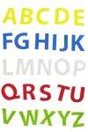 Filzstanzteile Buchstaben selbstklebend, 150 Stück