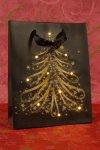 Geschenktasche Tanne mit 10 LEDs, 18 x 8 x 23 cm