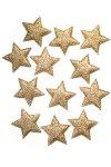 Glimmersterne goldbronze - 12er Pack