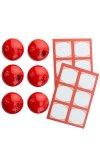 Cubi Multikappe 6er plus 12 Etiketten, rot