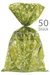 Schmuckbeutel Elegance grün 20 x 35 cm - 50er Pack