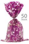 Schmuckbeutel Elegance violett 15 x 25 cm - 50er Pack