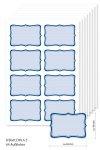 Etiketten 65 x 45 mm blau gestreift, 64 Stück, A5
