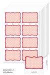 Etiketten 65 x 45 mm rot gepunktet, 64 Stück, A5