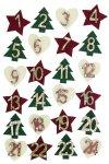 Filz-Sticker Adventskalenderzahlen