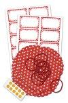 Deckchen-Set 50-teilig, 135 mm, Pünktchen rot