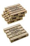 Deko-Holzpalette Homemade 10 x 10 cm, natur, 4 Stück