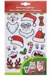 Weihnachtssticker-Set Gesichter und Accessoires