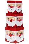 Geschenkbox-Set Weihnachtsmann, 3-teilig