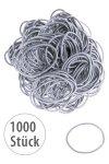 Elastische Schlaufen 40 mm, silber, 1000 Stück