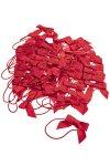 Elastische Schlaufen mit Schleife, rot, 50 Stück