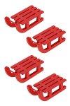 Deko-Schlitten aus Holz, 6,5 cm, rot, 4er Pack