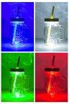 Trinkhalmglas mit LED-Beleuchtung 450 ml