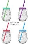 Trinkhalmglas Eule 420 ml