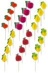 Cocktailstäbchen Früchte, 24er Set