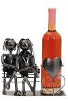 Wein-Flaschenhalter Paar auf der Bank