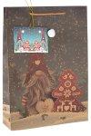 Geschenktüte Wichtel mit Bommelmütze, 24 x 8 x 33 cm