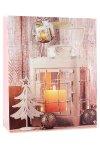 Geschenktasche Laterne mit Kerze, 26 x 12 x 32 cm