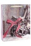 Geschenktüte Kugel mit Schleife, 26 x 12 x 32 cm