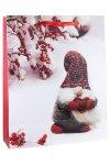 Geschenktüte Wichtel mit Strickmütze, 26 x 12 x 32 cm