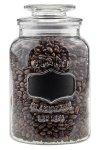 Vorratsglas 1300 ml beschreibbar mit Glasdeckel, 4er Pack