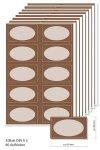 Etiketten 63 x 38 mm Bronze, 80 Stück, A5