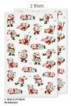 Weihnachtsetiketten Adventskalender-Nikoläuse 1-24, 48 Stück