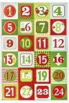 Deko-Sticker Adventskalenderzahlen grün/rot, 24 Stück