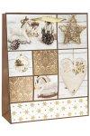 Geschenktüte Herz, Kugel, Schaukelpferd, 26 x 12 x 32 cm