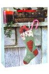 Geschenktüte Weihnachtssocke, 26 x 12 x 32 cm