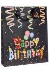 Geschenktüte Happy Birthday mit Glitzer, 26 x 10 x 32 cm