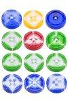 Trinkhalmdeckel CT 70 Farbverläufe, 12 Stück - SONDERPOSTEN
