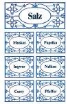 Schmucketiketten Gewürz-Etiketten blau