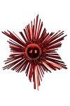 Deko-Aufkleber Glitzerstern rot