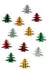 Filz-Sticker Glitzer-Tannenbäume - 12er Pack
