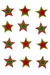 Filz-Sticker Sterne groß - 12er Pack
