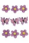 Miniaturen zum Aufkleben Blüten & Schmetterlinge - 9er Set