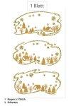 Weihnachtsetiketten Winterlandschaft beglimmert, 3 Stück
