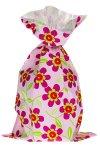 Schmuckbeutel Blümchen rosa 15 x 25 cm - 10er Pack