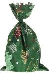Schmuckbeutel Merry Christmas dunkelgrün 20x35cm-50er Pack