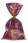 Schmuckbeutel Rosenblüte violett 15 x 25 cm - 10er Pack
