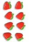 Deko-Aufkleber Erdbeeren aus Steinharz - 8er Pack