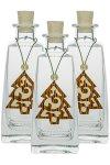 Weihnachtsanhänger Tanne aus Holz - 3er Pack