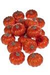 Deko-Frucht 'Kürbis' orange - 18er Pack