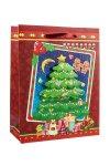 3D Geschenktasche Weihnachtsbaum, 18 x 8,5 x 23 cm