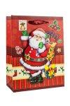3D Geschenktasche Weihnachtsmann, 18 x 8,5 x 23 cm